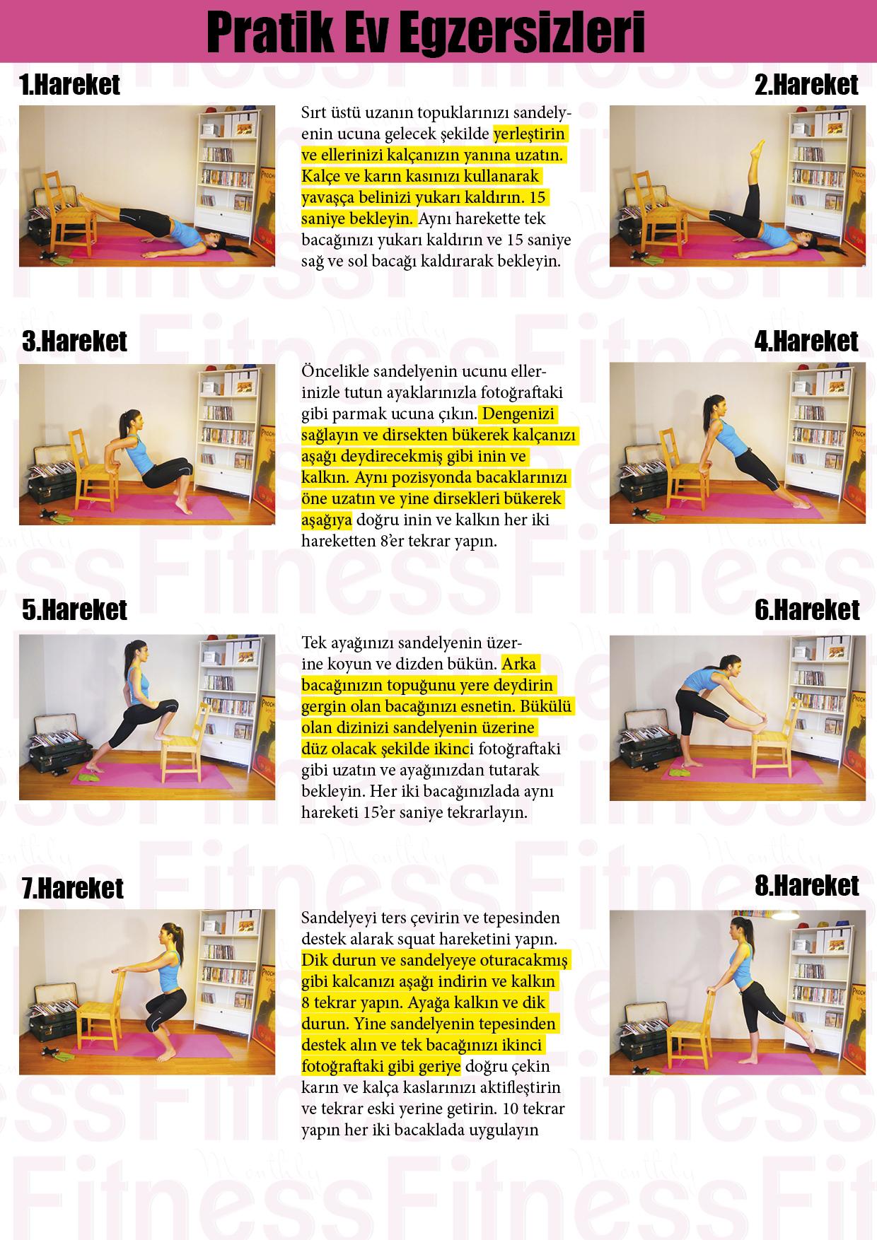 Erkek ve Bayan için Evde Egzersiz Programı